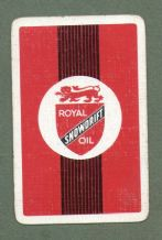 Advertising playing cards Royal Snowdrift Oil